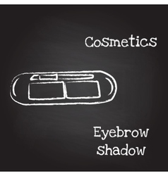 Eyebrow shadow painted with chalk on blackboard vector