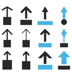 Pull up flat icon set vector