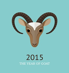 goat symbol of 2015 vector image