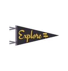 Explore concept pennant travel flag design camp vector