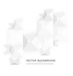 Abstract geometric shape from gray cubes vector image