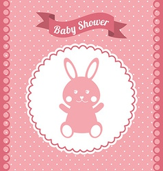 Babby shower design vector