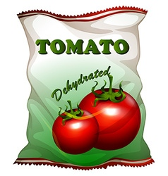 Bag of dehydrated tomatoes vector