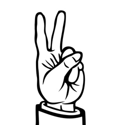 Black and white peace sign vector