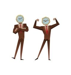 Businessman watch head vector image vector image