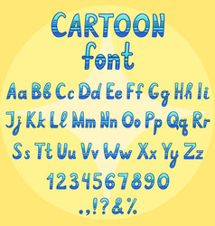 Cartoon font vector