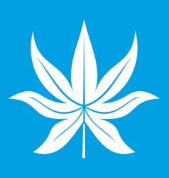 Chestnut leaf icon white vector