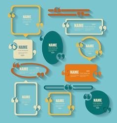 Creative quotation mark speech bubble set quote vector