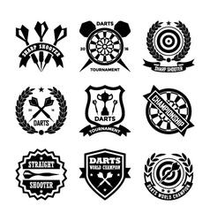 Darts badges vector