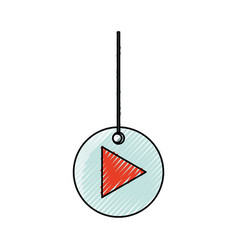 Decorative pendant with arrow vector