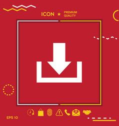 Download from cloud icon vector