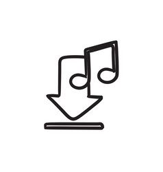 Download music sketch icon vector