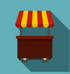 Fast food cart icon flat style vector