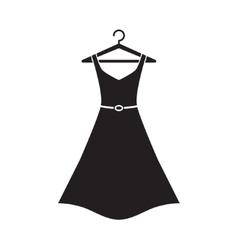 Female long dress on a hanger vector