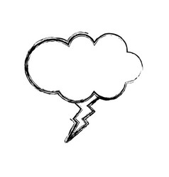 figure fashion cloud with thunder art style vector image vector image