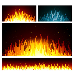 Graphic fire flames background vector
