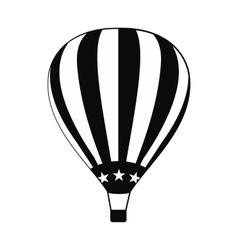 Hot air balloon with usa flag icon vector