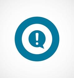 Info bold blue border circle icon vector