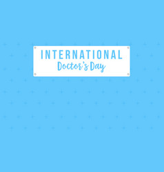 Intertational doctor day card style collection vector