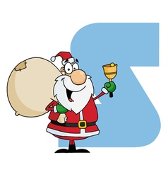 Letter S With Santa vector image