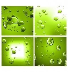 liquid drops vector image vector image