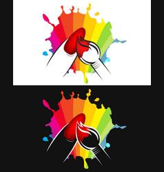 nail painting design vector image