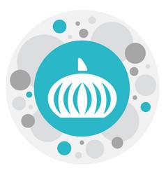 of dessert symbol on pumpkin vector image