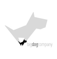 Original dog with shadow vector image