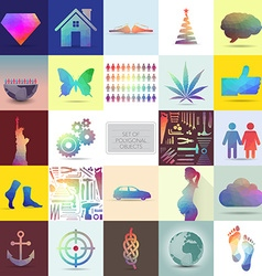 Polygonal objects vector image vector image