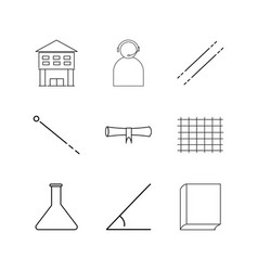 Science linear icon set simple outline icons vector