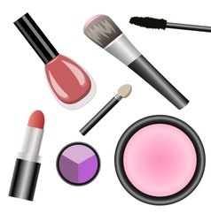 Set for makeup vector
