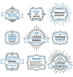 set of outline duotone design elements vector image