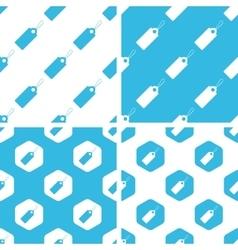 String tag patterns set vector image