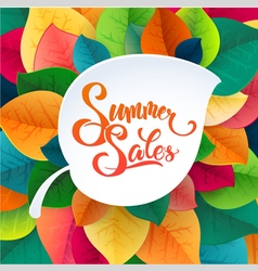 Summer sale promotoin poster vector