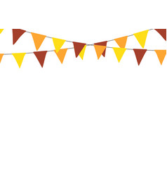 thanksgiving bunting flags holiday decorations vector image vector image