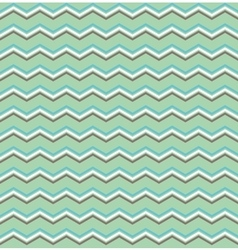 Tile white btown blue and green zig zag pattern vector image vector image
