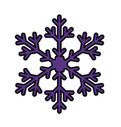 Winter snowflake icon vector