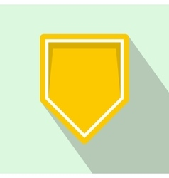 Yellow pennant icon flat style vector image vector image