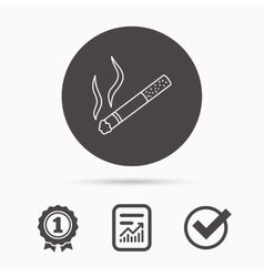 Smoking allowed icon yes smoke sign vector