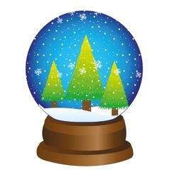 christmas toy ball snow vector image