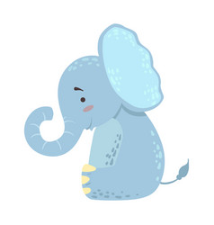 Elephant cute toy animal with detailed elements vector