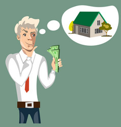 Man to consider the purchase of my home vector
