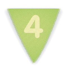 Bunting flag number 4 vector image