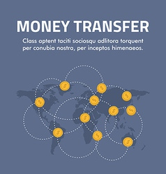 Flat design concept for money transfer for vector