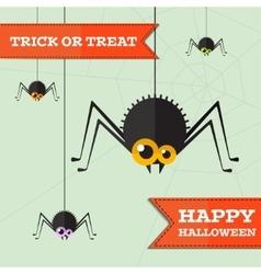 halloween spider background Eps10 vector image