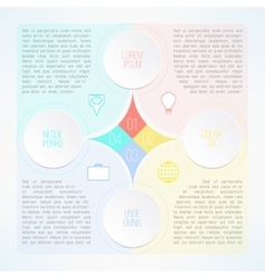 Infographic template with circles suitable vector