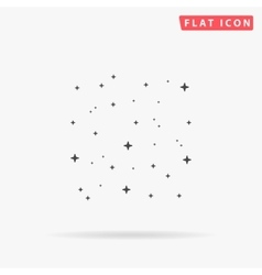 Stars simple flat icon vector