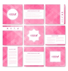 Square set of brochure business science vector