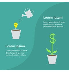 Financial growth concept business infographic vector