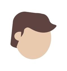 Face man young avatar vector